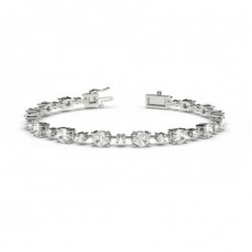 4 Prong Setting Tennis Bracelet - CLBR83_01