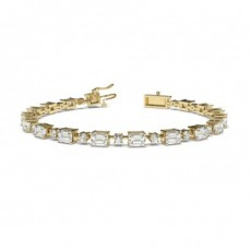 Mixed Shapes Yellow Gold Tennis Bracelet
