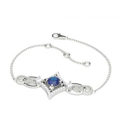 Zierliches Edelstein Armband in 4 Krappenfassung