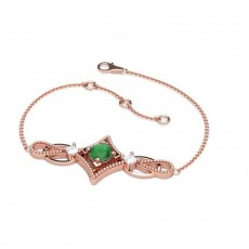 Princess Rose Gold Delicate Bracelet