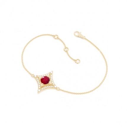 4 Prong Setting Gemstone Delicate Bracelet