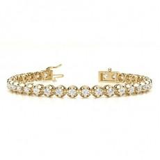 Round Yellow Gold Tennis Bracelet