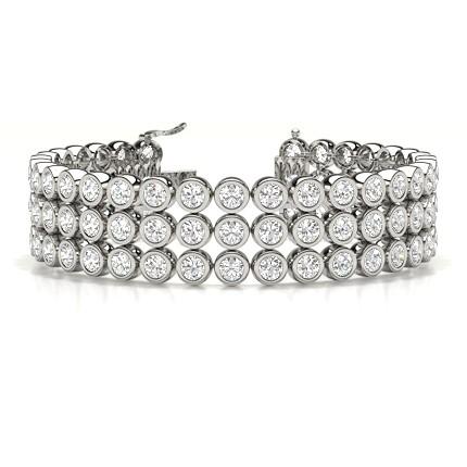 3 Row Bezel Set tennis bracelet
