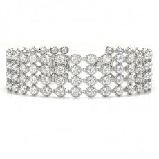 Rond Prêts à Livrer Bracelets Diamant