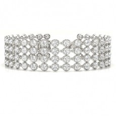 Platinum Diamond Tennis Diamond Bracelets