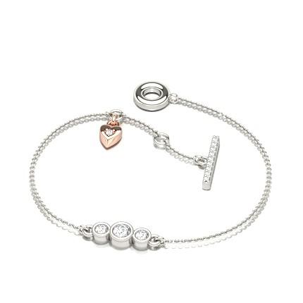 Stud Diamant-Linked-Kettenarmband