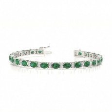 Oval Diamond Bracelets