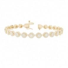 Prong Round Diamond Designer-Armband