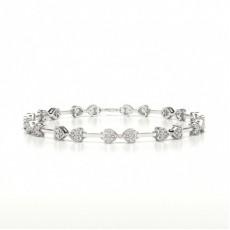 Bracelet de createur diamant rond serti pave