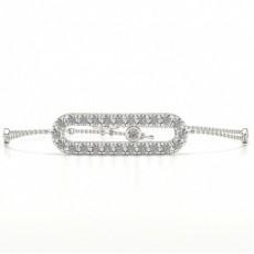 Bracelet délicat serti de diamants ronds sertis de pavés