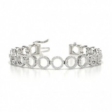 Bracelet de createur a diamants ronds