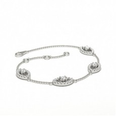 Mixed Shapes Silver Delicate Bracelet