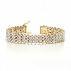 Or Jaune Prêts à Livrer Bracelets Diamant