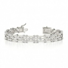 Bracelet de createur a diamants ronds sertis de diamants