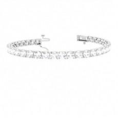 Bracelet de createur diamant rond serti 4 griffes