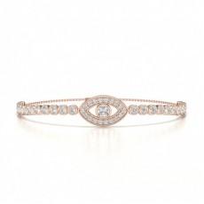 Or Rose Prêts à Livrer Bracelets Diamant