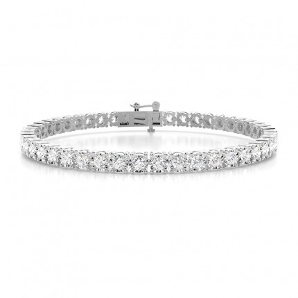 Illusion Prong Setting Round Diamond Tennis Bracelet