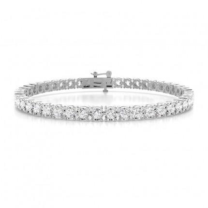 Illusion Prong Einstellung rundes Diamant-Tennisarmband