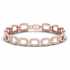 Bracelets riviere en or rose