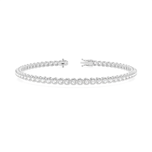 4 Prong Setting Round Diamond Tennis Bracelet