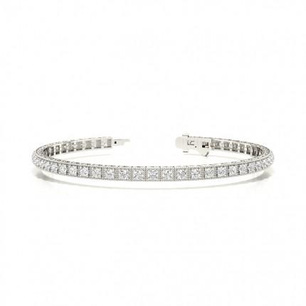 Prong Setting Round Diamond Tennis Bracelet