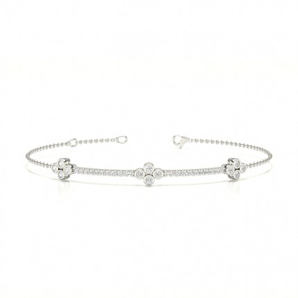 Bezel Setting Diamond Evening Bracelet