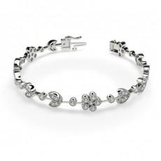 White Gold Diamond Bracelets