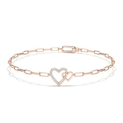 Plate Prong Round Diamond Everyday Bracelet