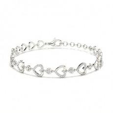 Or Blanc Bracelets délicats