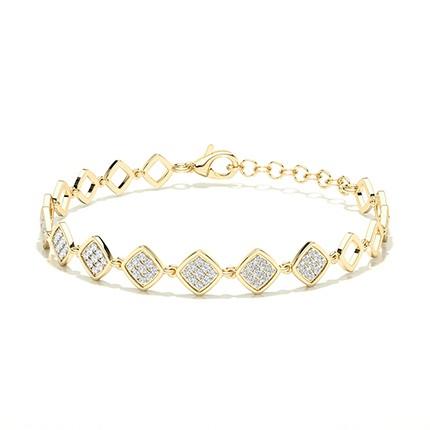 Armband mit runden Diamanten in Mikrokragenfassung Pro