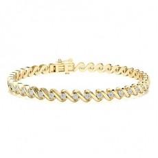 Bracelets riviere en or jaune