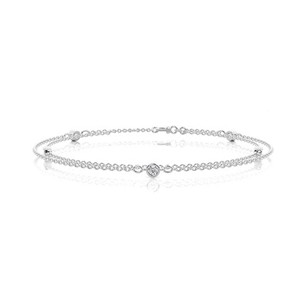 Bezel Setting Diamond Everyday Bracelet