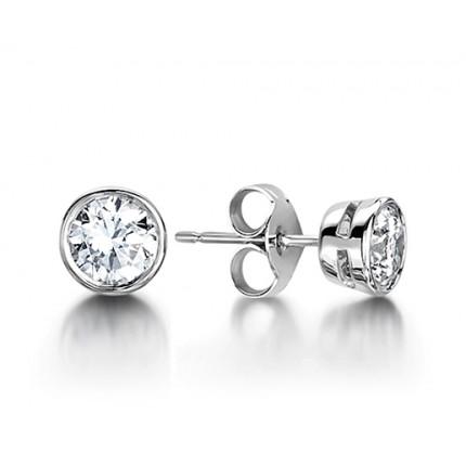 Diamant Ohrstecker in einer Zargenfassung