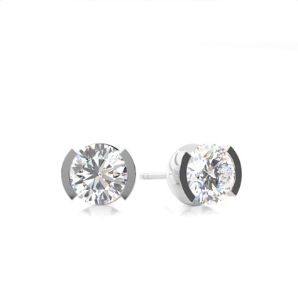 White Gold Diamond Earrings
