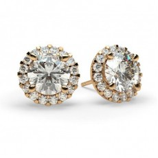 4 Prong Setting Halo Stud Earring - CLER7_01