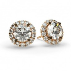 4 Prong Setting Halo Stud Earring - CLER7_04