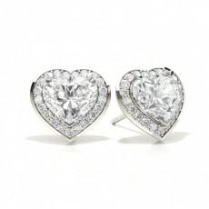 Herzförmige Diamant Ohrringe
