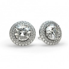 4 Prong Setting Halo Stud Earring - CLER8_01