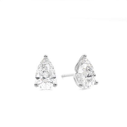 Pear Stud Diamond Earrings