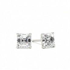 Asscher Diamant Ohrringe