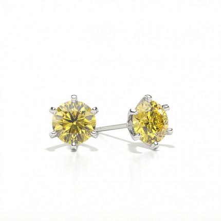 Gelber Diamant Ohrstecker
