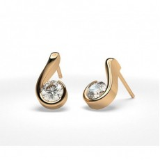 Rose Gold Stud Diamond Earrings