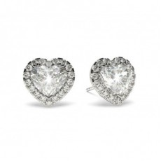 3 Prong Setting Halo Earring - CLER19_03