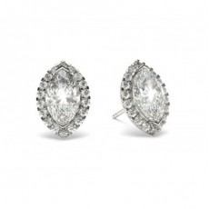 2 Prong Setting Halo Earring - CLER19_05
