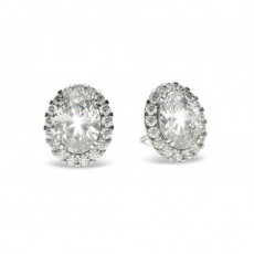 4 Prong Setting Halo Earring - CLER19_07