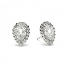3 Prong Setting Halo Earring (Available from 0.60ct. to 3.50ct.)