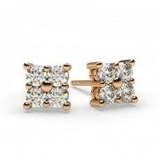 Rotgold Cluster Ohrringe