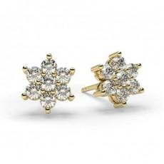 Boucles d'oreilles illusion diamant rond serti griffes 0.50ct - HG0604_43