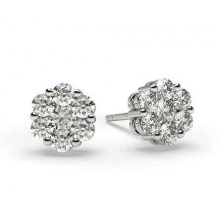 Mehrfachdiamant Ohrringe in einer Balkenfassung
