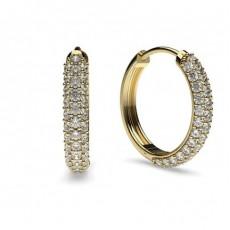 Yellow Gold Hoop Diamond Earrings